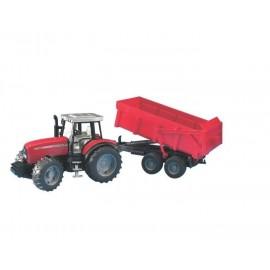 Traktor Massey Ferguson 7480 z przyczepą zabawka