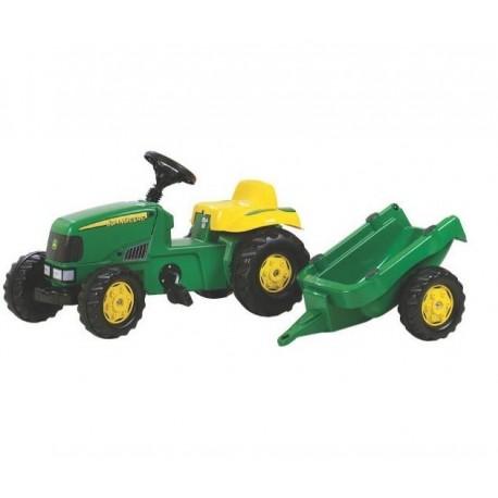 Traktor John Deere z przyczepą zabawka