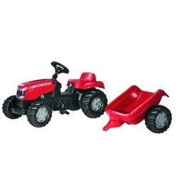 Traktor Massey Fergusson z przyczepą zabawka