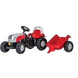 Traktor Steyr z przyczepą zabawka