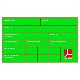 Tablica informacyjna dla bydła, zielona