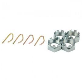 Nakrętki koronkowe z zatyczką ADR, M30 x 1,5 KA
